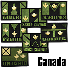 V-TAC Region Patches --Quebec