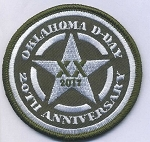 OKLAHOMA D-DAY 20th Anniversary Patch